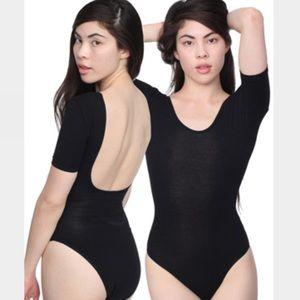 Cotton Spandex Double U Neck Bodysuit